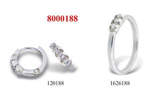 Сребърни бижута - комплект 8000188