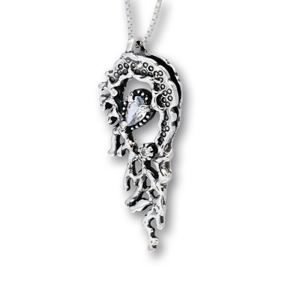 Висулка от сребро с камък 182335