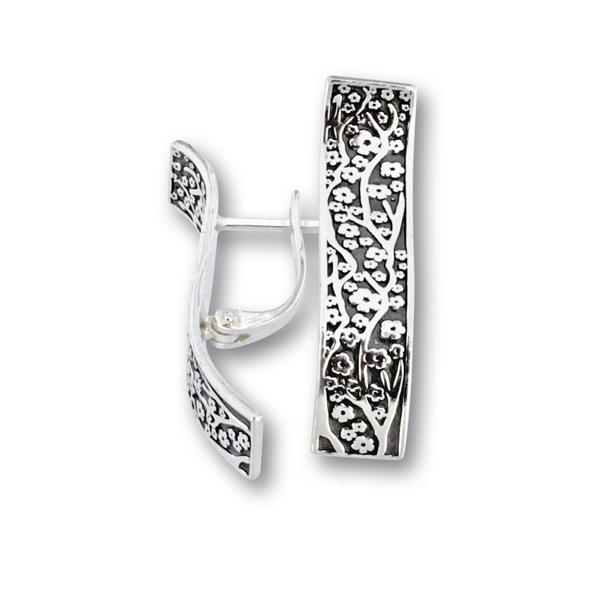 Сребърни обеци без камъни 136232