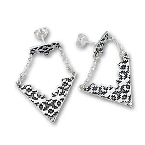 Сребърни обеци без камъни 136226
