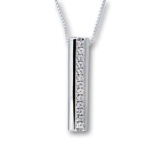 Висулки от сребро с камък - 174688