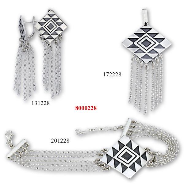 Сребърни бижута - комплект 8000228
