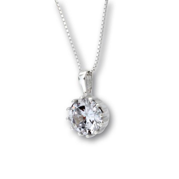 Висулка от сребро с камък 182235