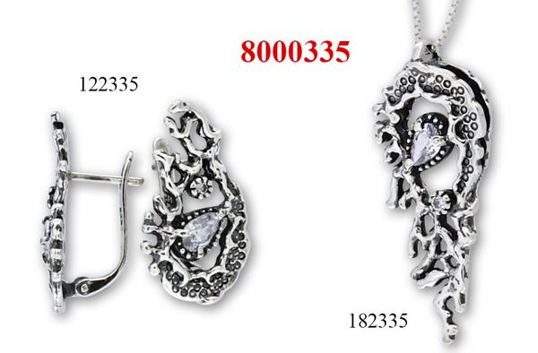 Сребърни бижута - комплект 8000335
