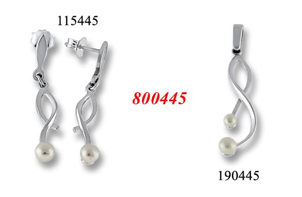 Сребърни бижута - комплект 8000445