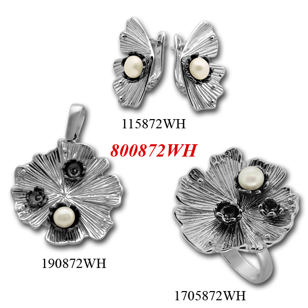 Сребърни бижута - комплект 8000872