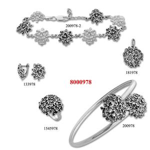 Сребърни бижута - комплект 8000978