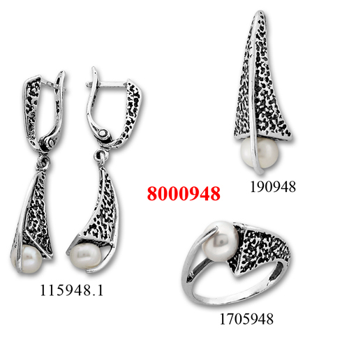 Сребърни бижута - комплект 8000948