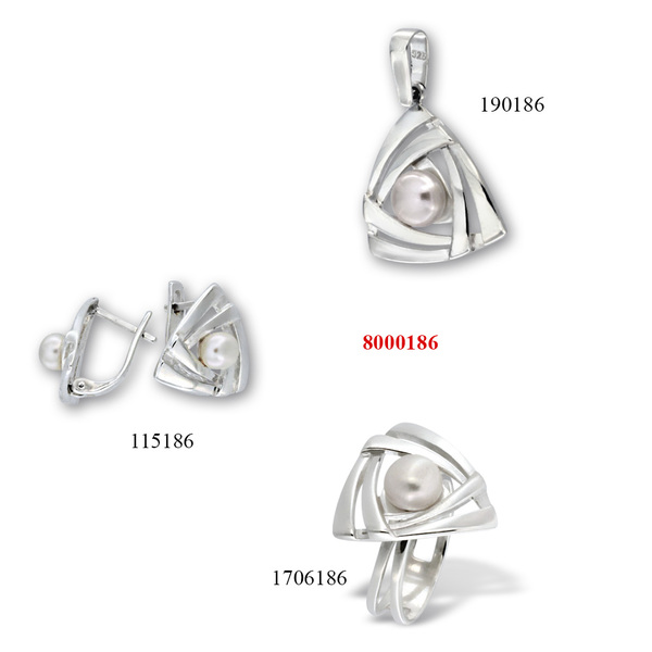 Сребърни бижута - комплект 8000186