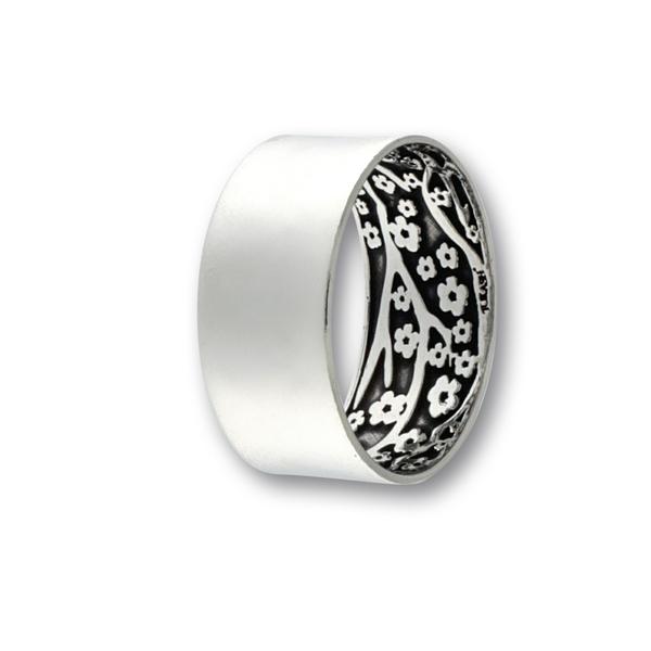 Сребърен пръстен без камък 1666184