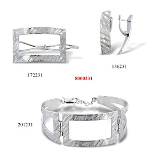Сребърни бижута - комплект 8000231