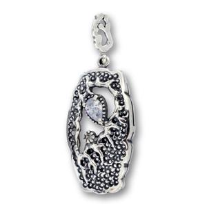 Висулки от сребро с камък - 182189