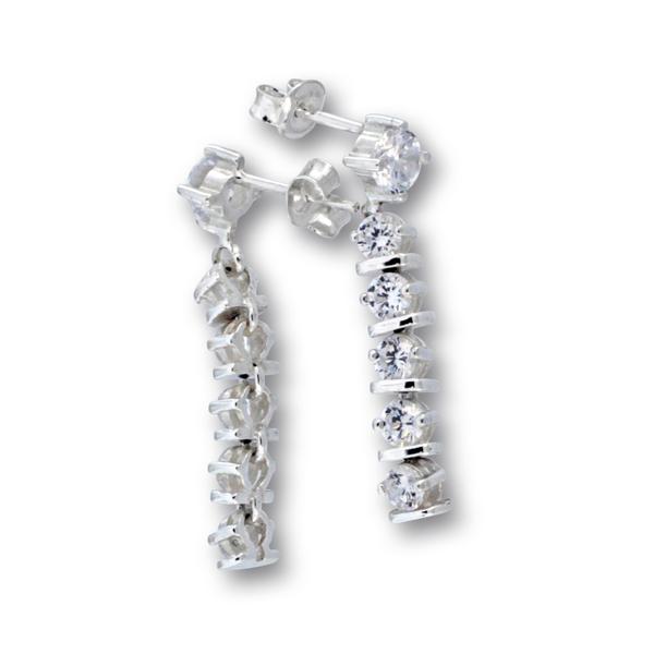 Oбеци с камъни от сребро 139233