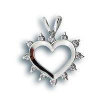 Висулки от сребро с камък - 174288