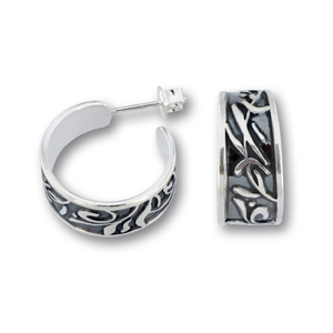 Сребърни обеци без камъни 131181