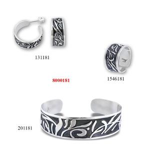 Сребърни бижута - комплект 8000181