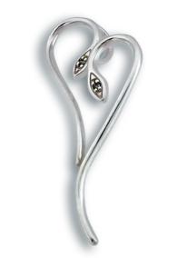Висулки от сребро с камък - 182342