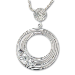 Висулки от сребро с камък - 182677