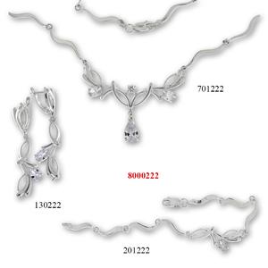 Сребърни бижута - комплект 8000222