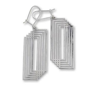 Сребърни обеци без камъни 601035