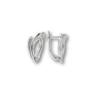 Сребърни обеци без камъни 133224
