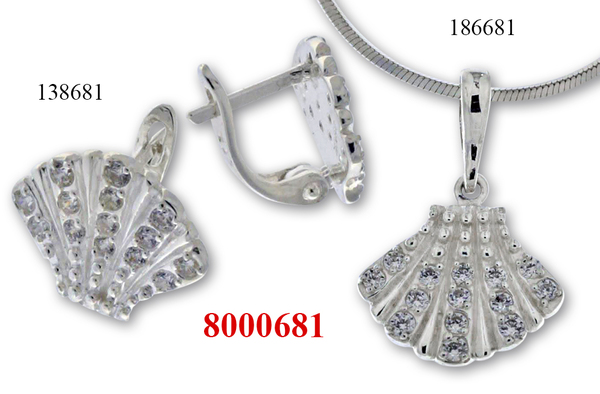 Сребърни бижута - комплект 8000681