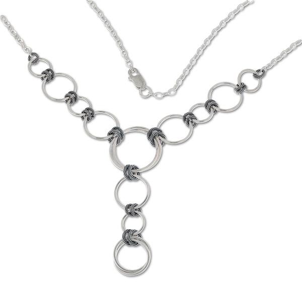 Колие от сребро 407059