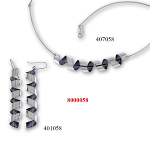 Сребърни бижута - комплект 8000058
