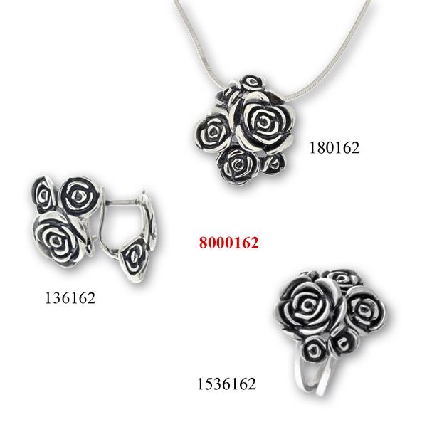 Сребърни бижута - комплект 8000162