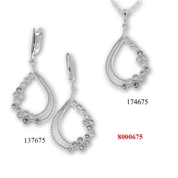 Сребърни бижута - комплект 8000675