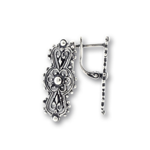 Сребърни обеци без камъни 133215