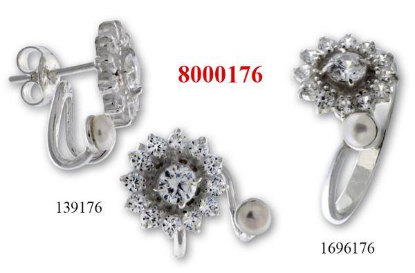 Сребърни бижута - комплект 8000176