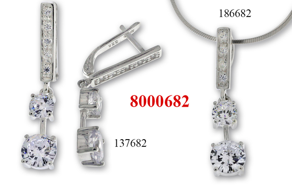 Сребърни бижута - комплект 8000682