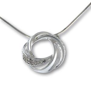 Висулки от сребро с камък - 176177