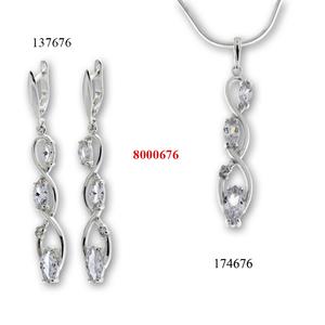 Сребърни бижута - комплект 8000676