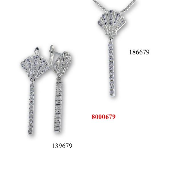Сребърни бижута - комплект 8000679