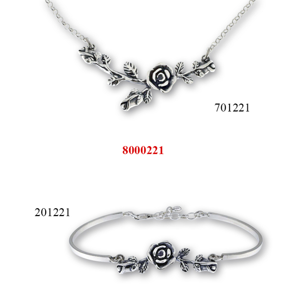Сребърни бижута - комплект 8000221
